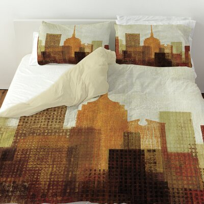 Summer in the City II Duvet Cover Size: Queen