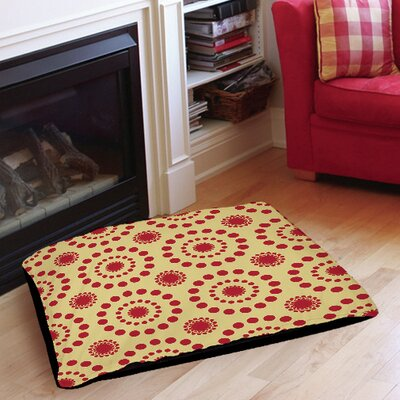 Tropical Breeze Patterns Indoor/Outdoor Pet Bed Size: 40 L x 30 W, Color: Red