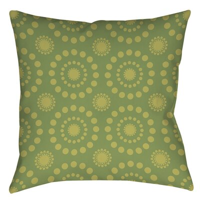 Tropical Breeze Patterns Printed Throw Pillow Size: 14 H x 14 W x 3 D, Color: Green