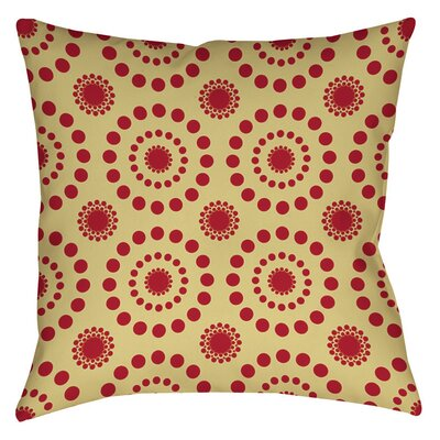 Tropical Breeze Patterns Printed Throw Pillow Size: 16 H x 16 W x 4 D, Color: Red