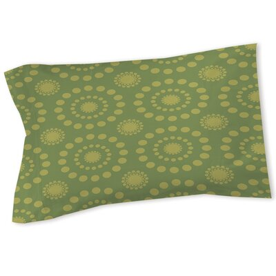 Tropical Breeze Patterns Sham Color: Green, Size: Queen/King
