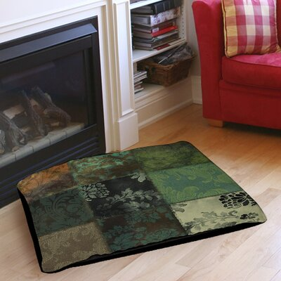 Velvet Patch Indoor/Outdoor Pet Bed Color: Green, Size: 40
