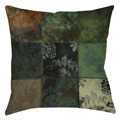 Rosalinda Printed Throw Pillow Size: 26 H x 26 W x 7 D, Color: Green