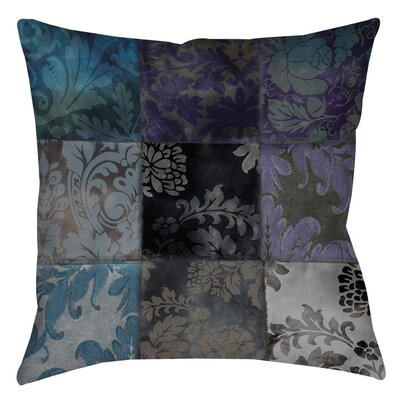 Velvet Patch Printed Throw Pillow Size: 26 H x 26 W x 7 D, Color: Purple