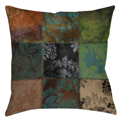 Velvet Patch Printed Throw Pillow Size: 14 H x 14 W x 3 D, Color: Brown