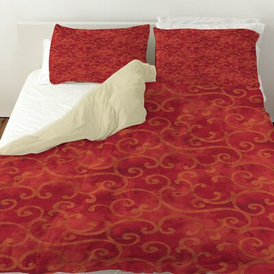 Zinnia Damask Duvet Cover Size: Twin