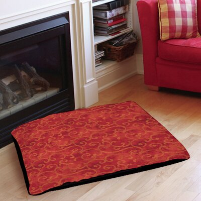 Zinnia Damask Indoor/Outdoor Pet Bed Size: 28