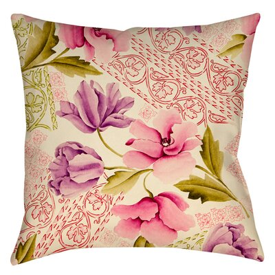Tulips and Lace Indoor/Outdoor Throw Pillow Size: 16 H x 16 W x 4 D