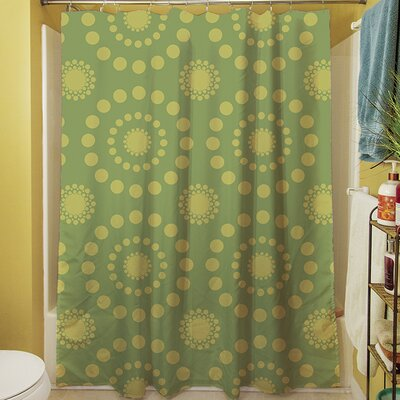 Tropical Breeze Shower Curtain Color: Green