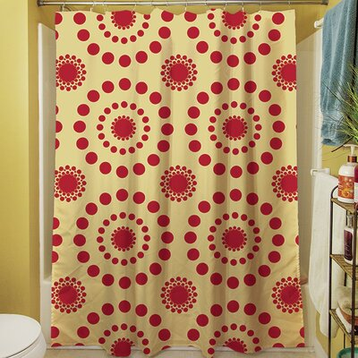 Tropical Breeze Shower Curtain Color: Red