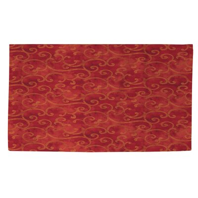 Zinnia Damask Red Area Rug Rug Size: 2 x 3