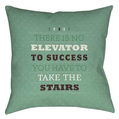 Take the Stairs Printed Throw Pillow Size: 26 H x 26 W x 7 D