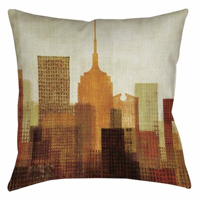 Summer in the City II Indoor/Outdoor Throw Pillow Size: 16 H x 16 W x 4 D