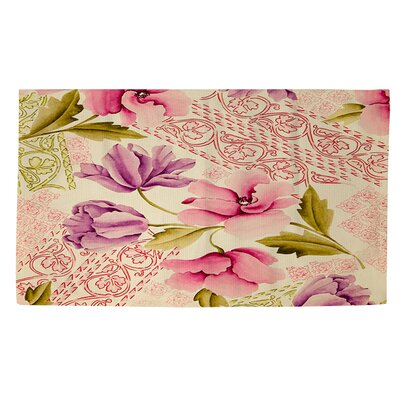 Tulips and Lace Area Rug Rug Size: 4 x 6