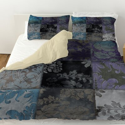 Velvet Patch Duvet Cover Color: Purple, Size: Twin