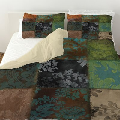 Velvet Patch Duvet Cover Size: King, Color: Brown