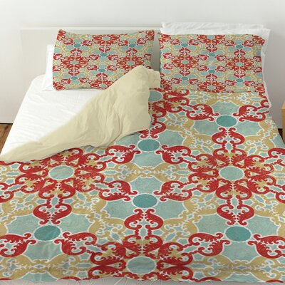 Tea House Patterns 11 Duvet Cover Size: King