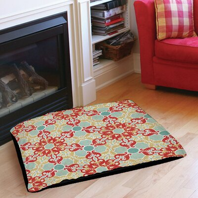 Tea House Patterns 11 Indoor/Outdoor Pet Bed Size: 40 L x 30 W