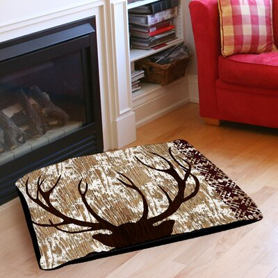 Wilderness Deer Indoor/Outdoor Pet Bed Size: 40 L x 30 W