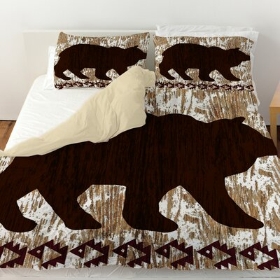 Wilderness Bear Duvet Cover Size: Queen
