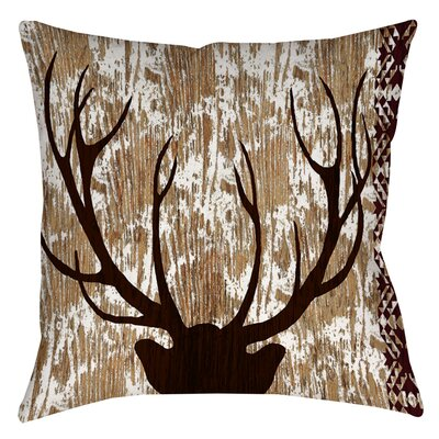 Square Deer Indoor/Outdoor Throw Pillow Size: 18 H x 18 W x 5 D
