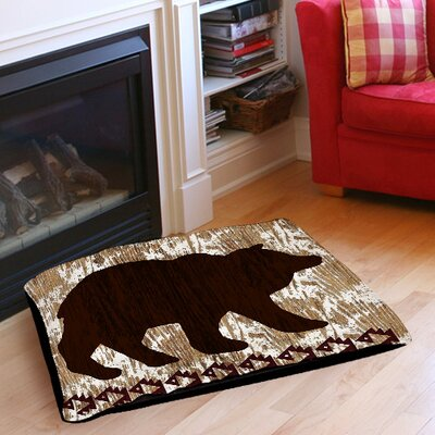Wilderness Bear Indoor/Outdoor Pet Bed Size: 28 L x 18 W