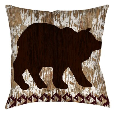 Wilderness Bear Indoor/Outdoor Throw Pillow Size: 18 H x 18 W x 5 D