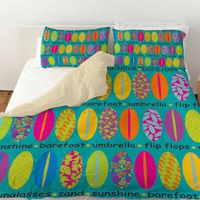 Surfs Up 1 Duvet Cover Size: King