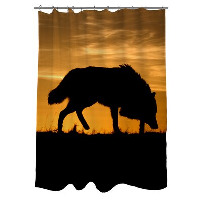 Wolf Silhouette Shower Curtain