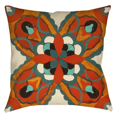 Tuscan Tile 1 Printed Throw Pillow Size: 16 H x 16 W x 4 D