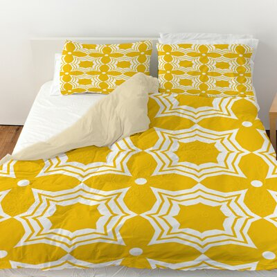 Sparkle Duvet Cover Color: Yellow, Size: Twin