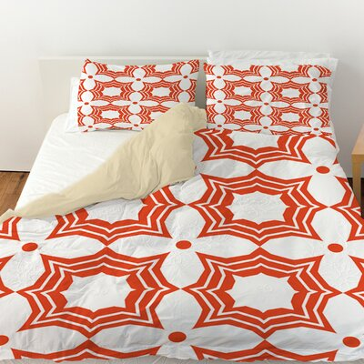Sparkle Duvet Cover Size: King, Color: Orange