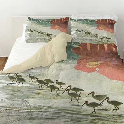 Sun and Surf Duvet Cover Size: Queen