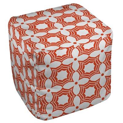 Samsel Pouf Upholstery: Orange