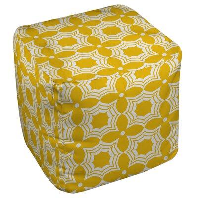 Samsel Pouf Upholstery: Yellow