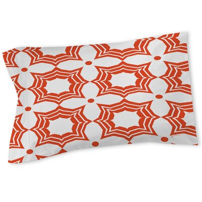 Sparkle Sham Color: Orange, Size: Queen/King