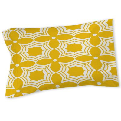 Sparkle Sham Color: Yellow, Size: Queen/King