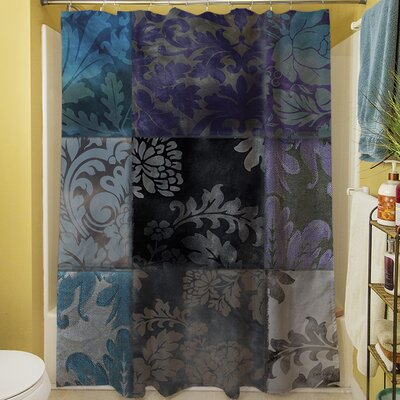 Velvet Patch Shower Curtain Color: Purple