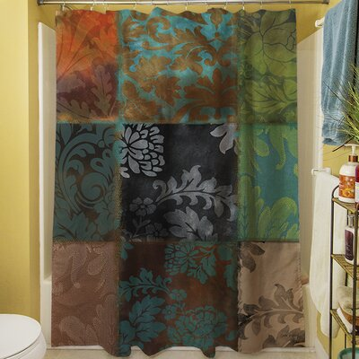 Rosalinda Shower Curtain Color: Brown