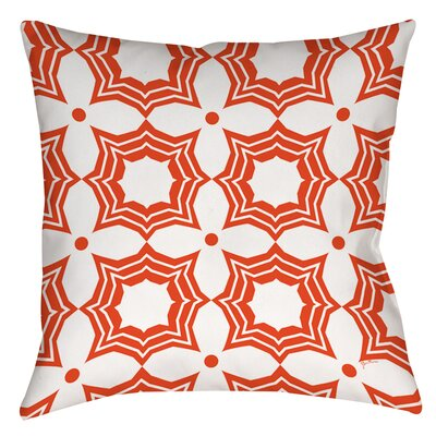 Samsel Printed Throw Pillow Size: 26 H x 26 W x 7 D, Color: Orange