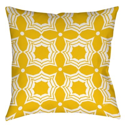 Samsel Printed Throw Pillow Size: 16 H x 16 W x 4 D, Color: Yellow