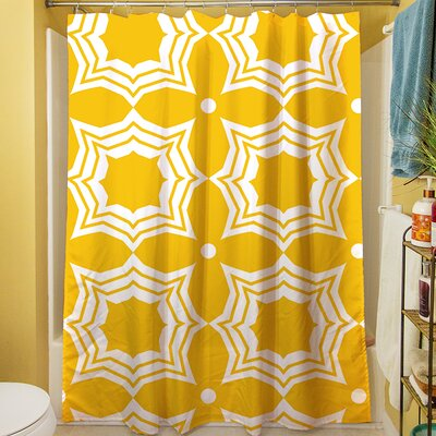 Sparkle Shower Curtain Color: Yellow