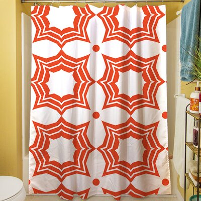 Sparkle Shower Curtain Color: Orange