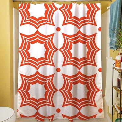 Sparkle Shower Curtain Color: Orange