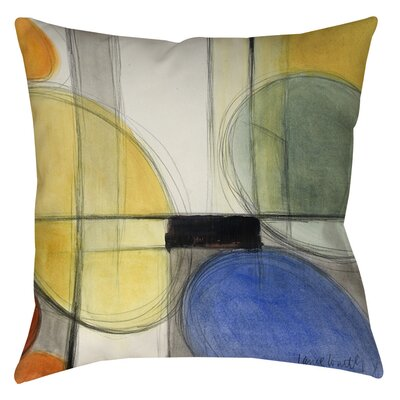 Geometric Indoor/Outdoor Throw Pillow Size: 18