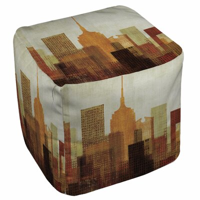 Summer in the City Pouf Ottoman