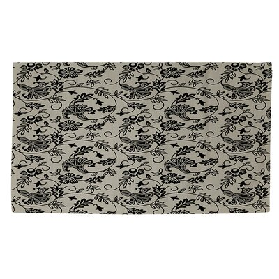 Sultry Blues Grey Area Rug Rug Size: 4 x 6