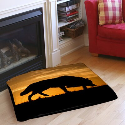 Wolf Silhouette Indoor/Outdoor Pet Bed Size: 28 L x 18 W