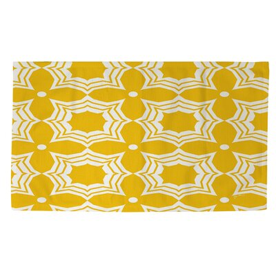 Sparkle Yellow/White Area Rug Rug Size: 2 x 3