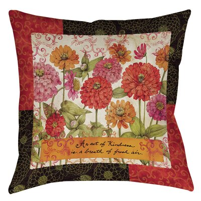 Zinnia Printed Throw Pillow Size: 16 H x 16 W x 4 D